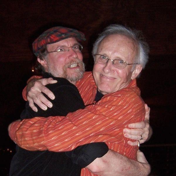 Jim Thatcher and Jim Allen hugging